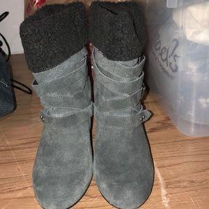 Dark grey Nine West boots